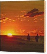 Sunset Over Indiana Dunes Wood Print