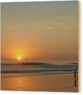 Sunset Over La Jolla Shores Wood Print