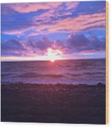 Sunset Over Lake Erie Wood Print