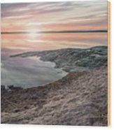 Sunset Over Lake Vanern, Sweden Wood Print