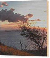 Sunset Over Lanai 2 Wood Print