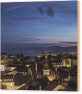 Sunset Over Lausanne   Wood Print