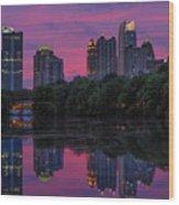 Sunset Over Midtown Wood Print by Doug Sturgess