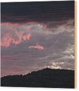 Sunset Over Mount Sanitas Wood Print
