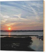 Sunset Over Murrells Inlet II Wood Print