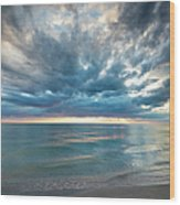 Sunset Over Naples Beach Wood Print
