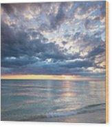 Sunset Over Naples Beach II Wood Print