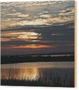 Sunset Over Navarre Wood Print