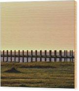 Sunset Over Pamlico Sound Wood Print