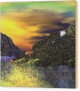 Sunset Over Paradise Wood Print