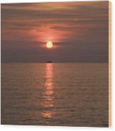 Sunset Over Pula Wood Print