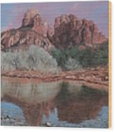Sunset Over Red Rocks Of Sedona  Wood Print