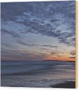 Sunset Over Rye New Hampshire Coastline Wood Print