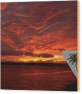 Sunset Over San Diego Wood Print