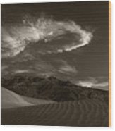 Sunset Over Sand Dunes Death Valley Wood Print