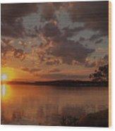 Sunset Over Shark River Wood Print