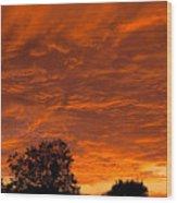 Sunset Over Simi Wood Print