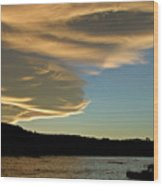 Sunset Over South Island Of New Zealand Wood Print