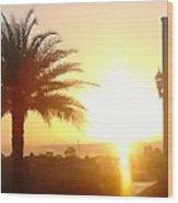 Sunset Over St Augustine Florida Wood Print