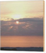 Sunset Over Sussex Wood Print