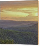 Sunset Over The Bluestone Gorge - Pipestem State Park Wood Print