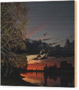 Sunset Over The Caloosahatchee Wood Print