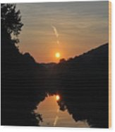 Sunset Over The Coal River Wood Print
