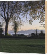 Sunset Over The Firth Of Forth From Inverkeithing Wood Print