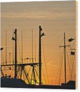 Sunset Over The Fleet Wood Print