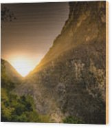 Sunset Over The Gorge Wood Print