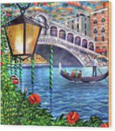 Sunset Over The Grand Canal - Venice Wood Print