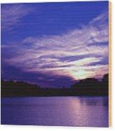 Sunset Over The Intercoastal Wood Print