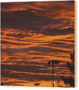 Sunset Over The Judean Hills Wood Print