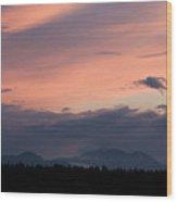 Sunset Over The Kamnik Alps Wood Print