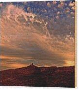 Sunset Over The Moab Rim 2 Wood Print