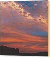 Sunset Over The Moab Rim Wood Print