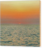 Sunset Over The Ocean In Galapagos Wood Print
