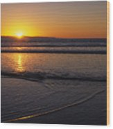 Sunset Over The Pacific Ocean Wood Print by Stacy Gold