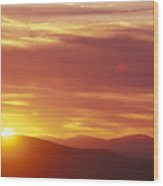 Sunset Over The White Mountains In New Wood Print