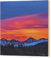 Sunset Over Torreys And Grays Peaks Wood Print