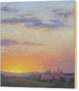Sunset Over Tuscany Wood Print