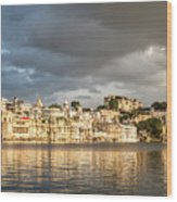 Sunset Over Udaipur Wood Print