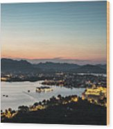 Sunset Over Udaipur In India Wood Print