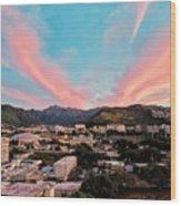 Sunset Over Uh Manoa Wood Print