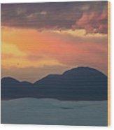 Sunset Over White Sands Wood Print
