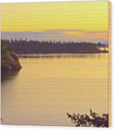 Sunset Over Widbey Island 8x12 Wood Print