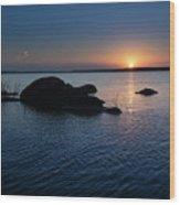 Sunset Over Wilson Lake Wood Print