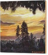 Sunset Over Wrightwood Wood Print