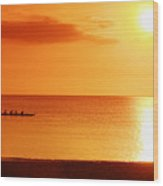 Sunset Paddle Wood Print