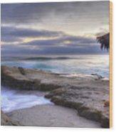 Sunset Palapa Wood Print